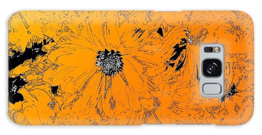 Orange Galaxy S8 Case featuring the digital art Orange Blast by Tim Allen