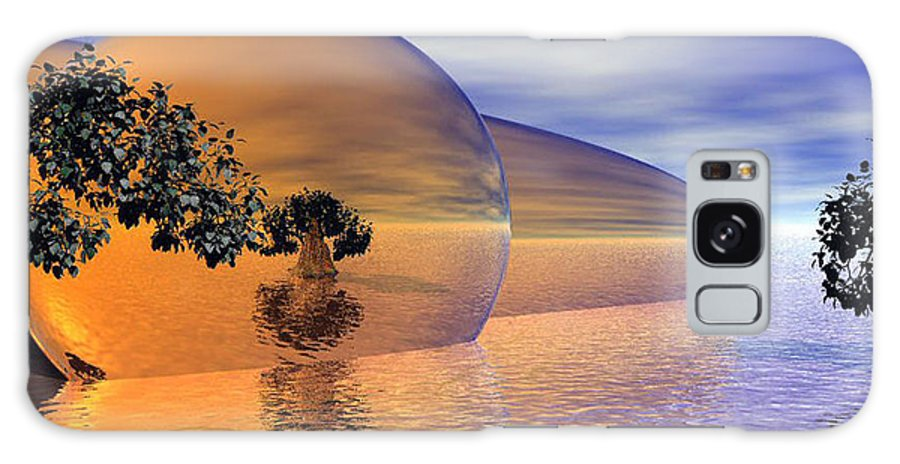 Digitalart Galaxy Case featuring the digital art Orange Blossom Special by Wayne Bonney