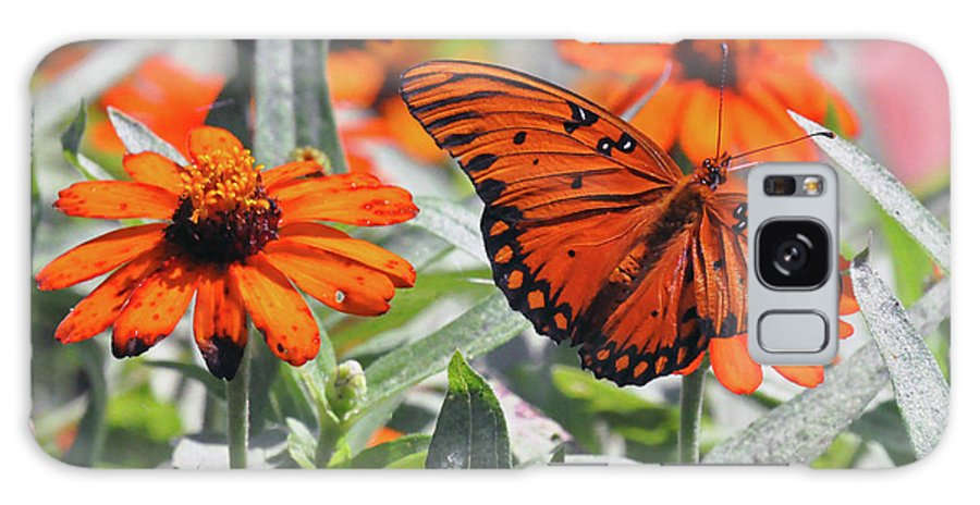 Nature Galaxy S8 Case featuring the photograph Orange Butterfly by Kay Lovingood
