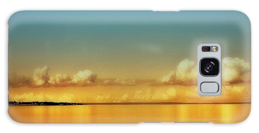 Orange Clouds Galaxy S8 Case featuring the photograph Orange Clouds by Dapixara Art