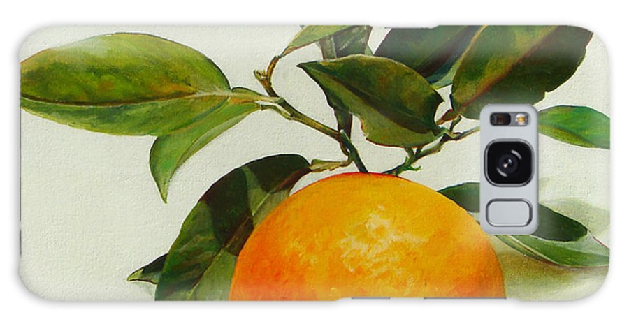Floral Painting Galaxy Case featuring the painting Orange cueillie by Muriel Dolemieux