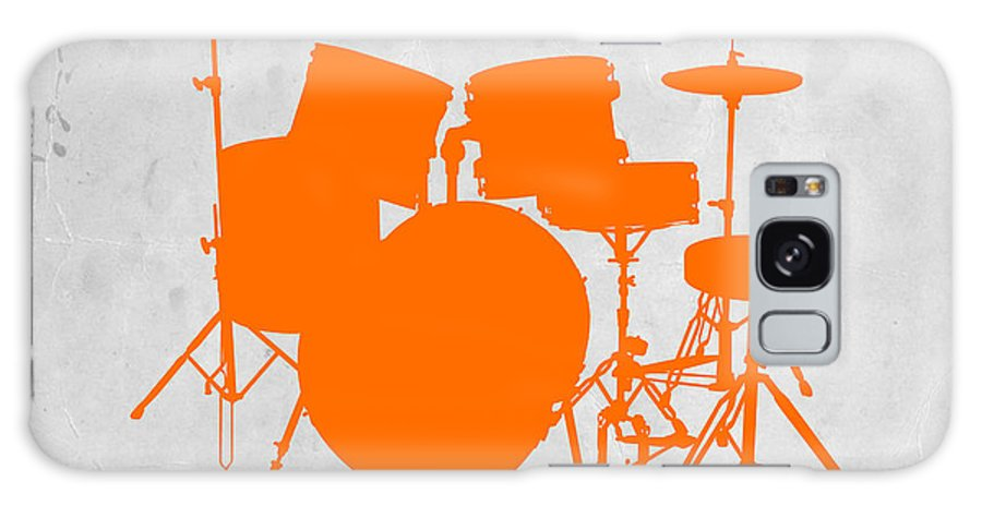 Drums Galaxy Case featuring the photograph Orange Drum Set by Naxart Studio