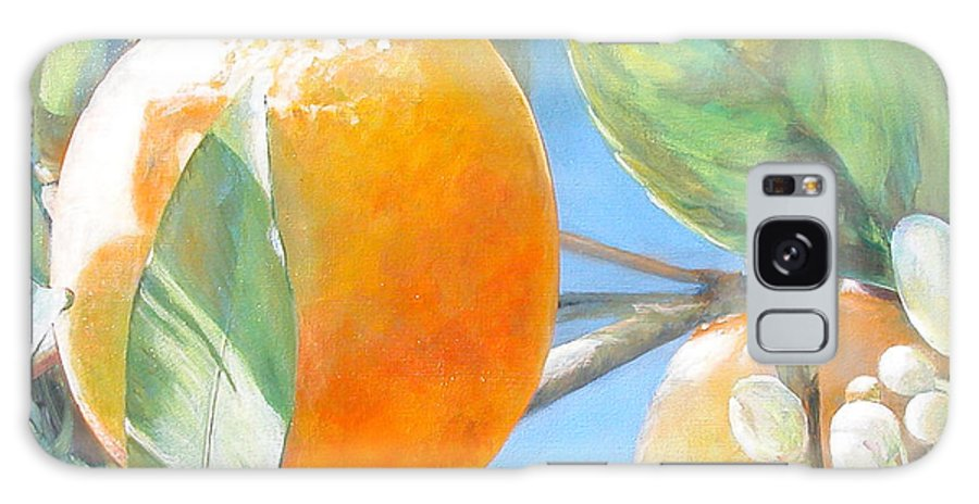 Floral Painting Galaxy Case featuring the painting Orange by Muriel Dolemieux
