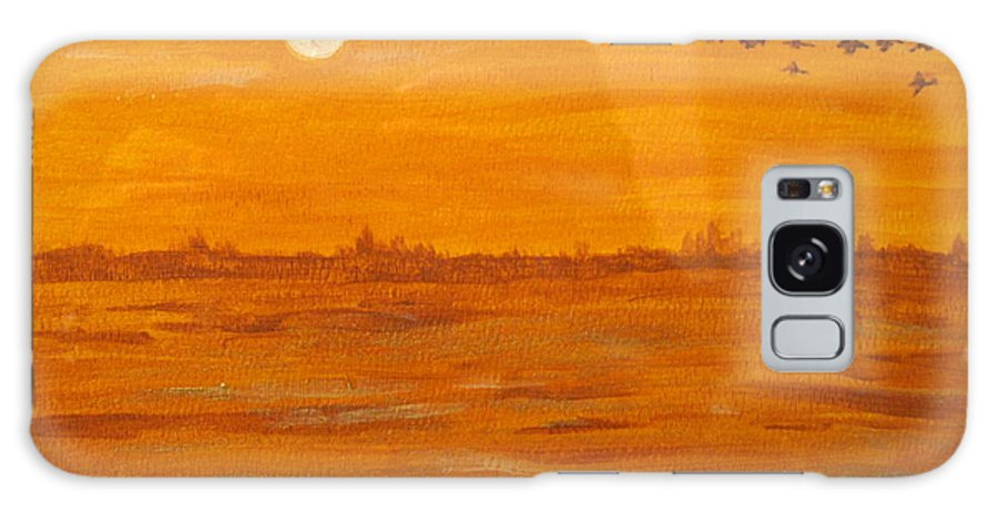Orange Galaxy Case featuring the painting Orange Ocean by Ian MacDonald