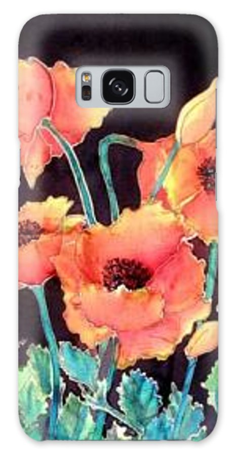 Poppies Galaxy Case featuring the painting Orange Poppies by Francine Dufour Jones
