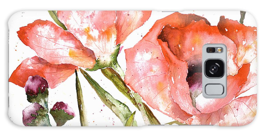 Poppy Galaxy Case featuring the painting Orange Poppies by Arline Wagner