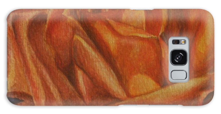 Rose Galaxy Case featuring the painting Orange Rose by Emily Young