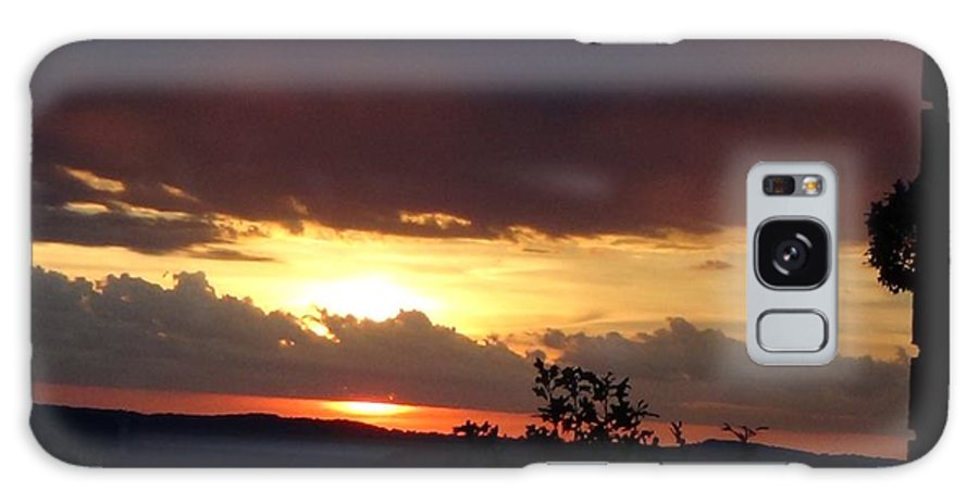 Sunset Galaxy Case featuring the photograph Orange September Sunset by Toni Berry