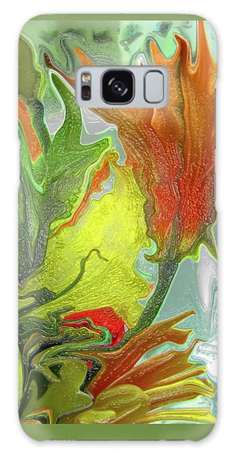 Abstract Galaxy S8 Case featuring the photograph Orange Tulip by Kathy Moll