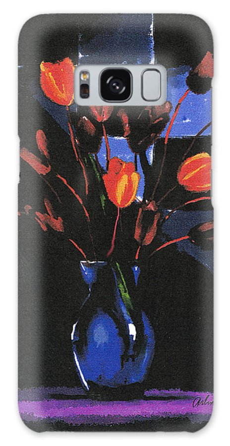 Tulip Galaxy Case featuring the digital art Orange Tulips by Arline Wagner