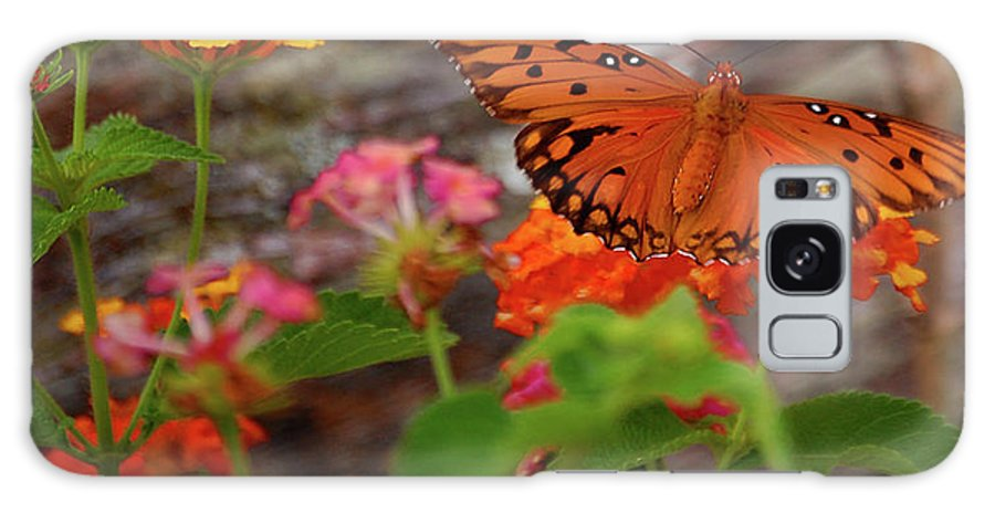 Butterfly Galaxy S8 Case featuring the digital art Orange You Pretty by DigiArt Diaries by Vicky B Fuller