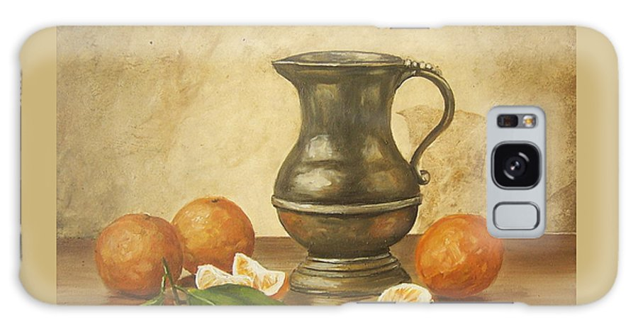 Still Life Galaxy Case featuring the painting Oranges by Natalia Tejera