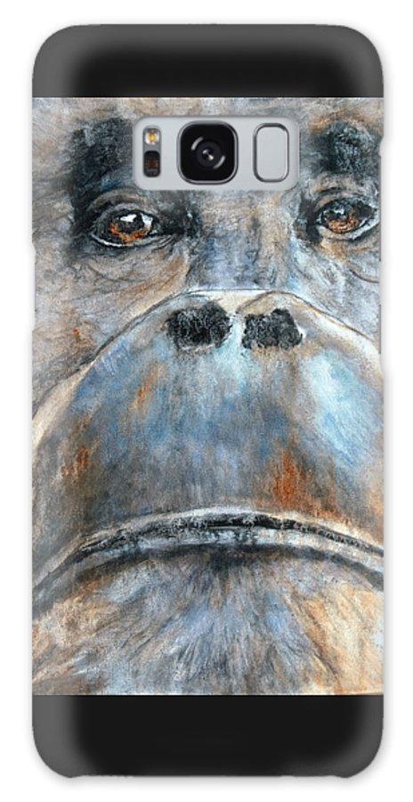 Orangutan Galaxy S8 Case featuring the painting Orangutan by Maureen Murphy