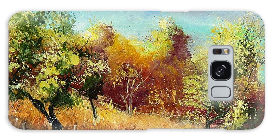 Flowers Galaxy S8 Case featuring the painting Orchard by Pol Ledent