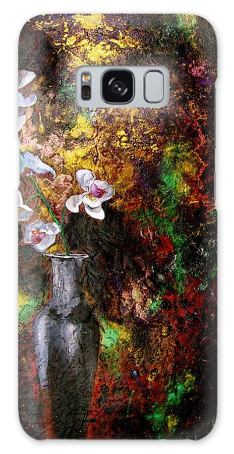 Orchid Art Beautiful Art Galaxy S8 Case featuring the painting Orchid 1 by Laura Pierre-Louis