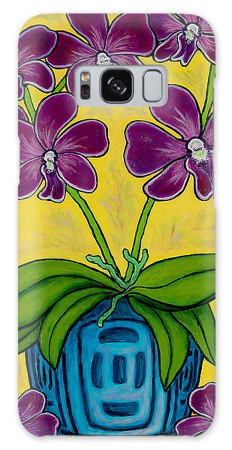 Orchids Galaxy Case featuring the painting Orchid Delight by Lisa Lorenz