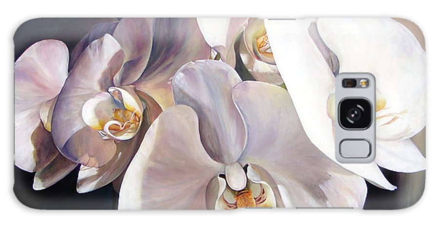 Floral Painting Galaxy Case featuring the painting Orchidee by Muriel Dolemieux