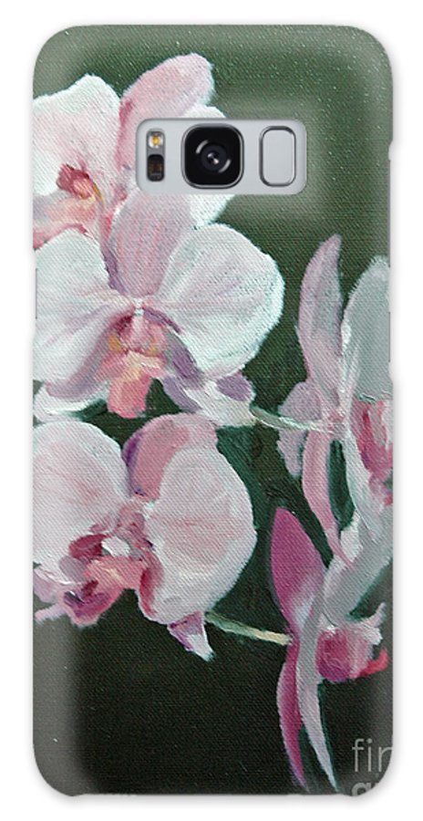 Floral Galaxy S8 Case featuring the painting Orchids For Didi by Glenn Secrest