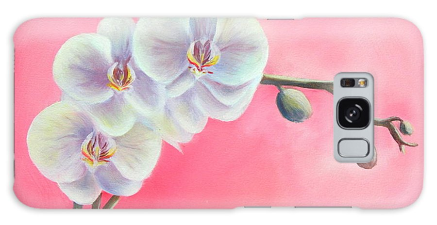 Orchids Paintings And Prints Galaxy S8 Case featuring the painting Orchids by Gabriela Valencia