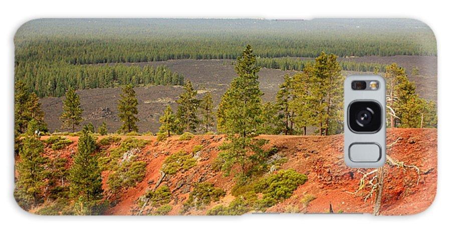Oregon Landscape Galaxy S8 Case featuring the photograph Oregon Landscape - View From Lava Butte by Carol Groenen