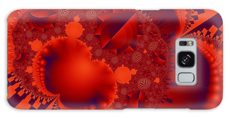 Fractal Image Galaxy S8 Case featuring the digital art Organics Over Geometrics In Red by Ron Bissett