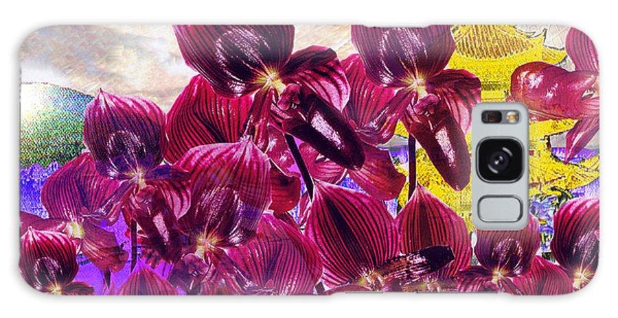 Far East Galaxy S8 Case featuring the digital art Oriental Orchid Garden by Seth Weaver