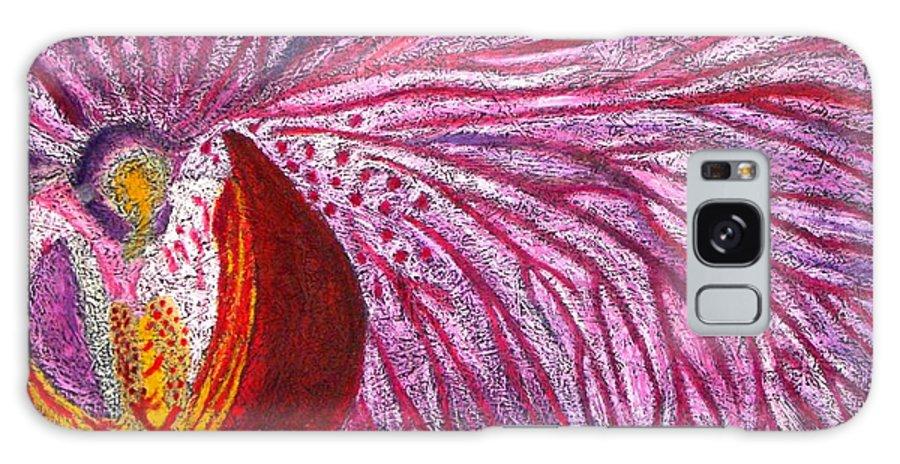 Orquid Galaxy S8 Case featuring the drawing Orquidea Rosa by Karla Kernz