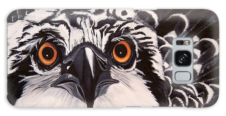 Osprey Galaxy S8 Case featuring the painting Osprey Eyes by Debbie LaFrance