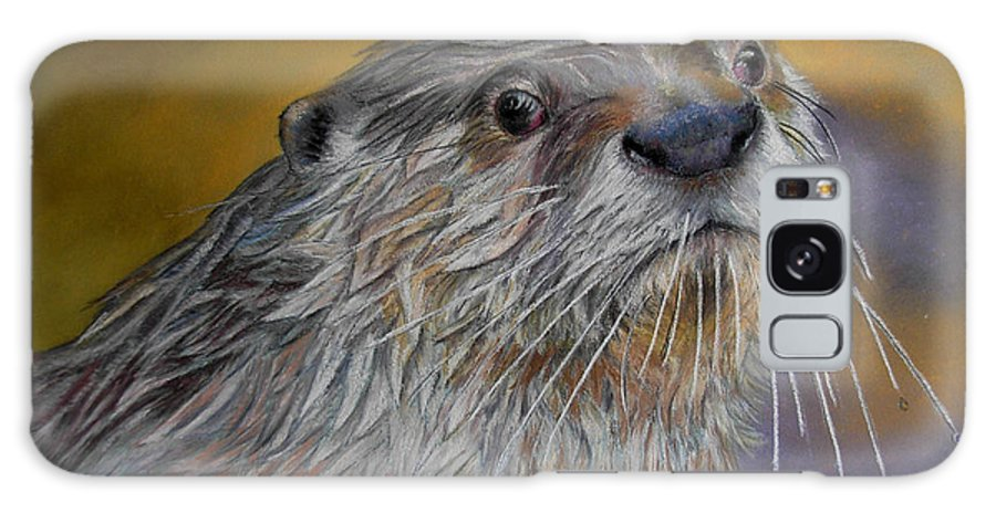 River Otter Galaxy S8 Case featuring the painting Otter Or Not by Ceci Watson
