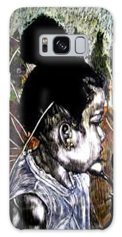 Fantasy Galaxy S8 Case featuring the mixed media Our Farie Princess by Chester Elmore