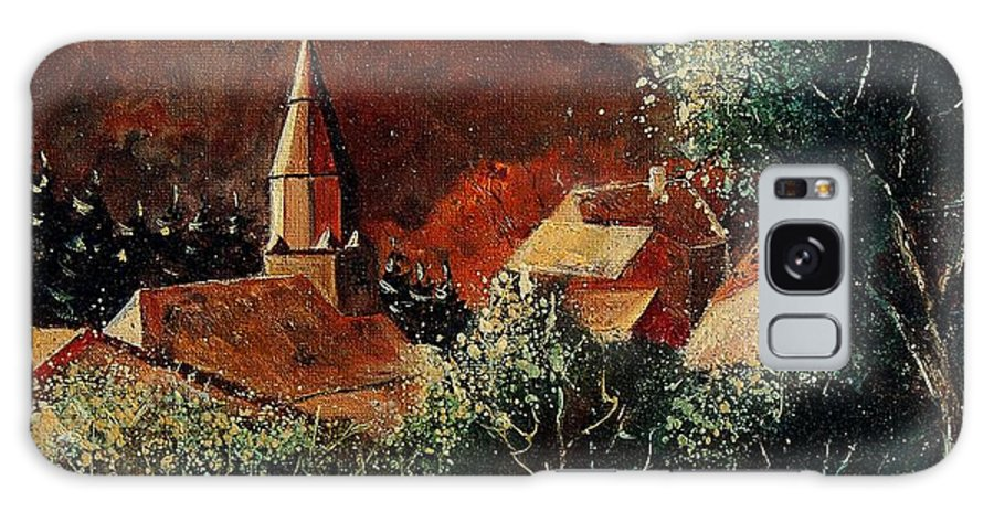 Tree Galaxy S8 Case featuring the painting Our Village Opont by Pol Ledent