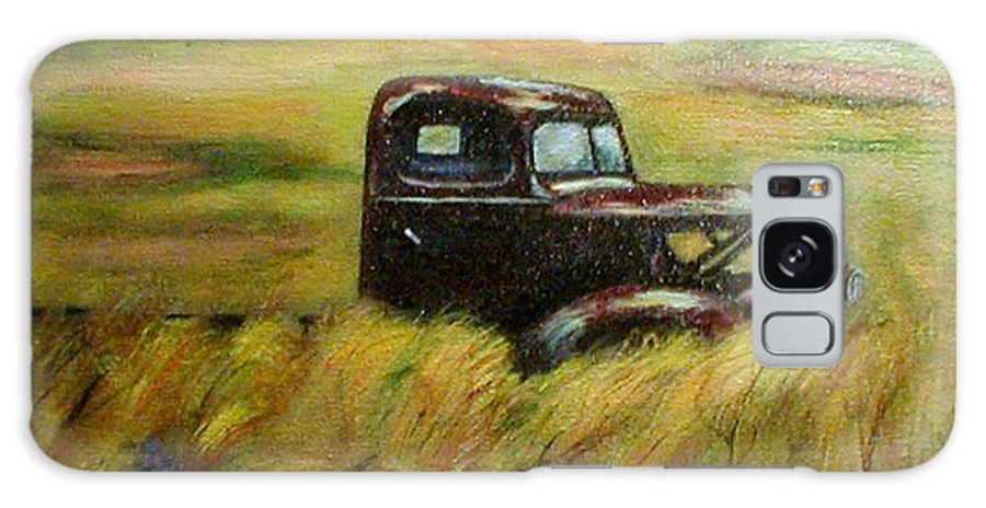 Vintage Truck Galaxy S8 Case featuring the painting Out To Pasture by Gail Kirtz