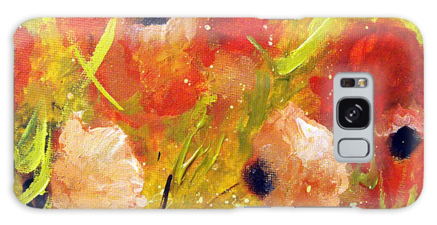 Decorative Galaxy Case featuring the painting Out With The Sun by Ruth Palmer