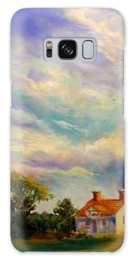 Lighthouse Galaxy S8 Case featuring the painting Outer Banks Lighthouse by Lynee Sapere