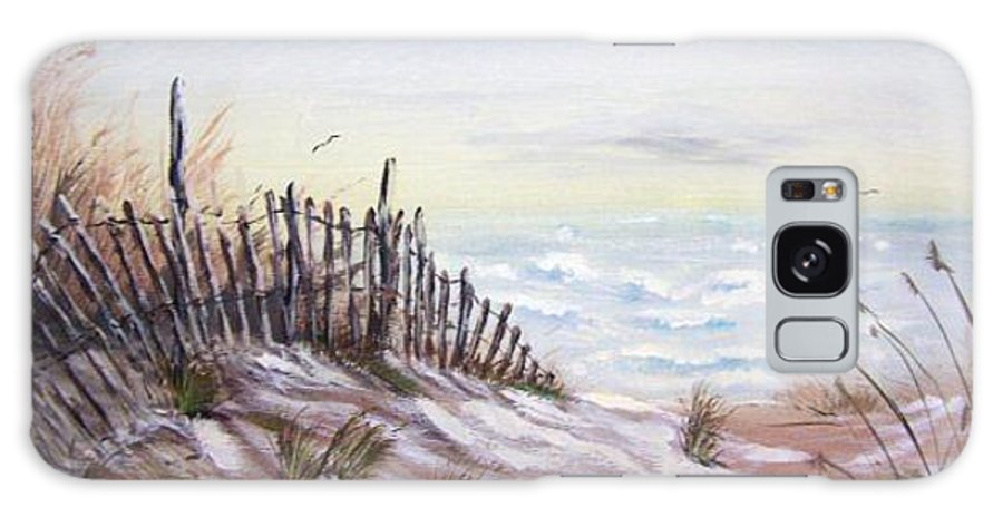 Beach Galaxy S8 Case featuring the painting Outer Banks by Sherri Patterson