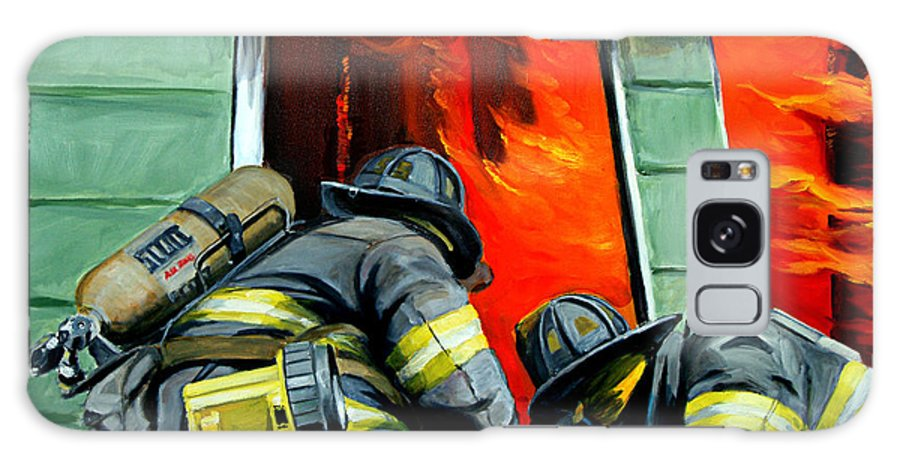Firefighting Galaxy S8 Case featuring the painting Outside Roof by Paul Walsh