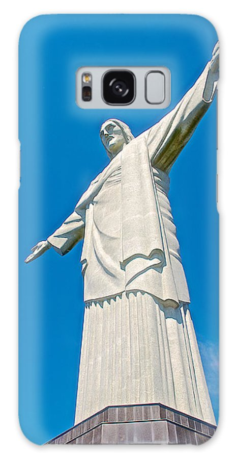 Outstretched Arms Of Christ The Redeemer Icon On Corcovado Mountain In Rio De Janiero Galaxy S8 Case featuring the photograph Outstretched Arms Of Christ The Redeemer Icon On Corcovado Mountain In Rio De Janeiro-brazil by Ruth Hager
