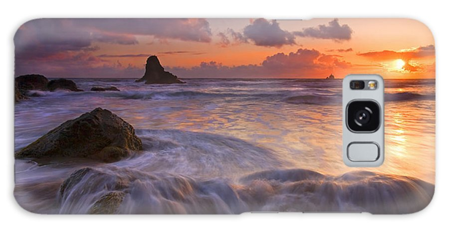 Sunset Galaxy Case featuring the photograph Overcome by Mike Dawson