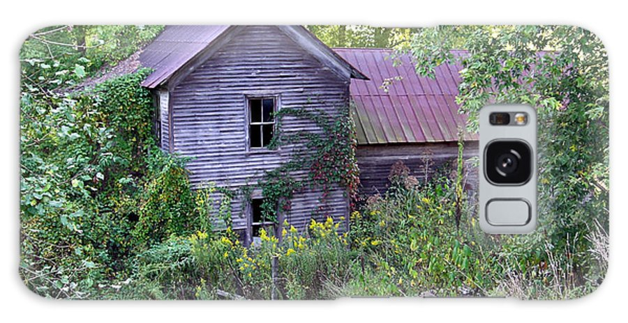 Overgrown Galaxy S8 Case featuring the photograph Overgrown Abandoned 1800 Farm House by Douglas Barnett