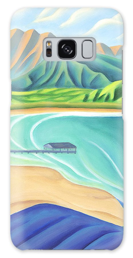 Landscape Galaxy S8 Case featuring the painting Overlooking Hanalei Bay by Lynn Soehner