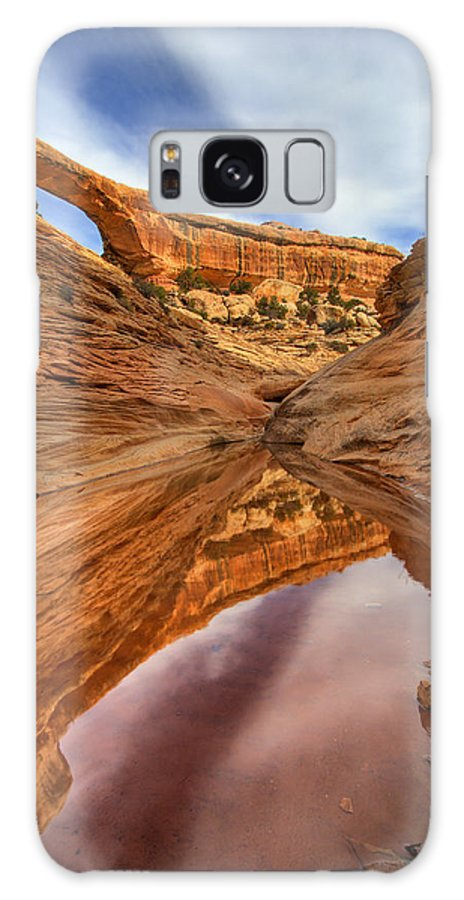 Bridge Galaxy S8 Case featuring the photograph Owachomo Reflected by Mike Dawson