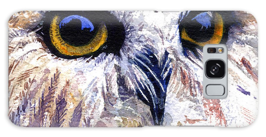Eye Galaxy S8 Case featuring the painting Owl by John D Benson