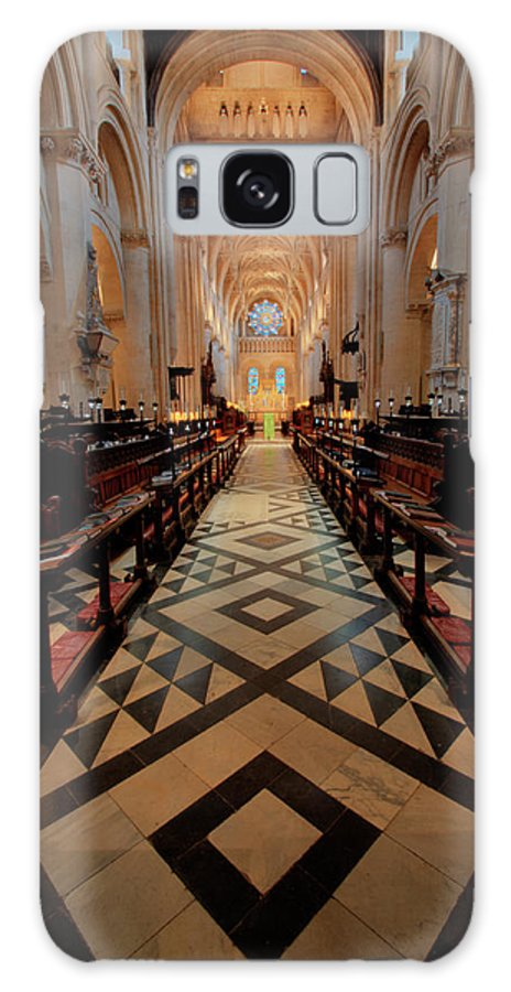 Oxford Cathedral Galaxy S8 Case featuring the photograph Oxford Cathedral Nave by Carol Berget