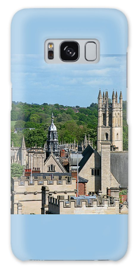 Oxford Galaxy S8 Case featuring the photograph Oxford Tower View by Ann Horn