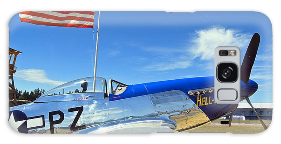 P-51 Galaxy S8 Case featuring the photograph P-51 Hell - Er - Bust by Larry Keahey