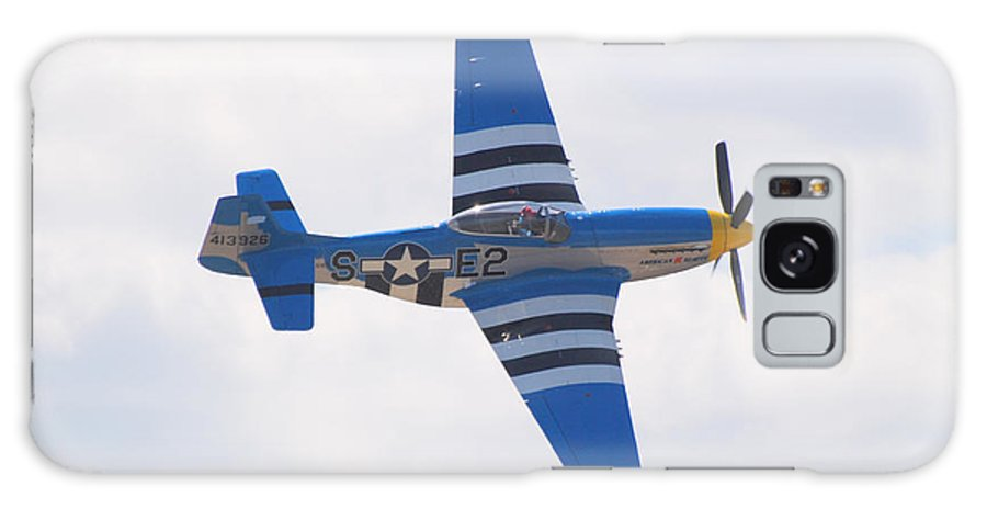P 51 Galaxy Case featuring the photograph P-51 Mustang American Rose by Larry Keahey