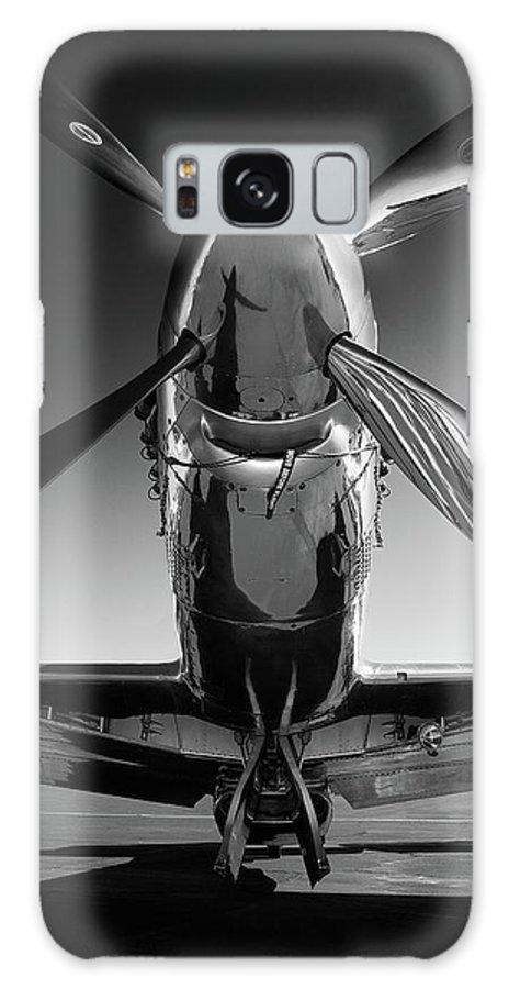 P51 Galaxy Case featuring the photograph P-51 Mustang by John Hamlon