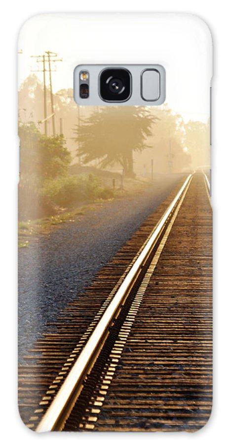 Pacific Coast Starlight Galaxy S8 Case featuring the photograph Pacific Coast Starlight Railroad by Kyle Hanson