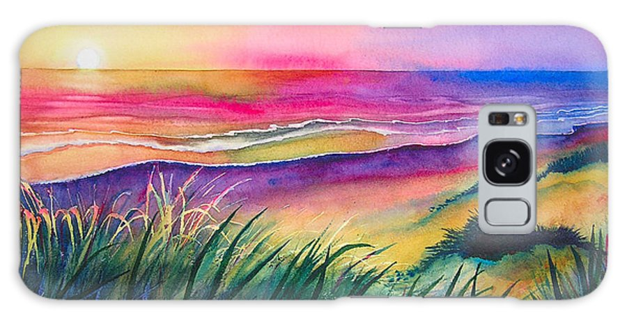 Pacific Galaxy S8 Case featuring the painting Pacific Evening by Karen Stark