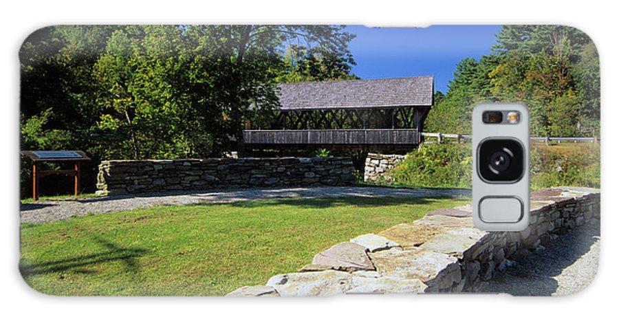 Bridge Galaxy S8 Case featuring the photograph Packard Hill Covered Bridge - Lebanon New Hampshire by Erin Paul Donovan